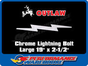 Chrome Steel Lightning Bolt Cut Out Large 19 Inch X 2-1/2 Inch Truck Mud Flaps
