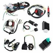 Complete Electrics Stator Coil Cdi Wiring Harness Solenoid Relay Spark Plug For