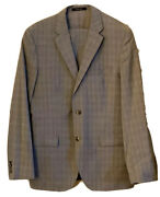 Hugo Boss The Jam Gray Plaid Two Button Single Vented Suit 40 R Sharp