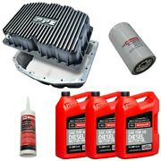 Ppe Brushed Oil Pan W/ Motorcraft 15w-40 Oil/filter For 11-21 6.7l Powerstroke