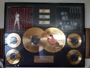 Super Rare Elvis Presley Limited Edition Gold Records- Only 55 In The World.