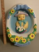 Vintage Empire Easter 17 Egg W/ Chick And Basket Of Flowers Blow Mold 1995 Rare