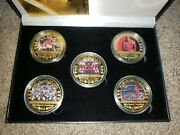 Worth Michael Jordan Mvp 24kt Gold Plated 5 Coin Set Mint Condition Brand New