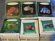 Antique Tractors Hallmark Ornament Collection 1 2 3 5 6 And 7 In Series - New