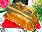 Royal Winton All Gold Cheese Holder Made In England Flower Handle 1930s
