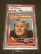 1971 Topps 156 Terry Bradshaw Rookie Card Rc Psa 3 Vg Great Color