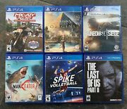 Lot Of 6 Ps4 Game Last Of Us 2 Assassins Creed Spike Mx Maneater Rainbow Six