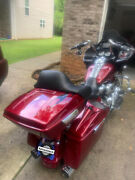 Hard Candy Hot Rod Red Flake Chopped Tour Pack Flames Wrap-around For 97+ Harley