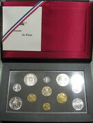 France - Coins In Portfolio Past Festive Gift- Year 1990 - Number Ps05 - Proof