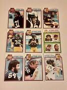 1979-80's Topps Pittsburg Steelers Tony Dungy Rookie Terry Bradshaw 30 Card Lot