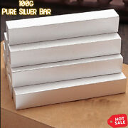 100g 0.999 Fine Silver Bar Pure Bullion Scrap German Ag Collection With Stamp
