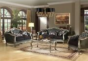 Acme Furniture Chantelle Silver Sofa And Loveseat Living Room Set