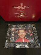 Waterford Crystal 12 Days Of Christmas 4x6 Picture Frame Limited Edt. New In Box