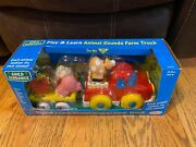 Vintage Child Guidance Play And Learn Animal Sounds Truck 6 Peace Set Hay Wagon