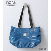 Miche Nora Demi Shell Item 3126 Textured Faux Leather Side Pockets Blue New