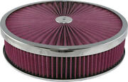 Corvette Air Cleaner Assembly Super Flow 14 With Chrome Edge Lid 25-171974-1