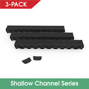 Storm Mate Low Profile Channel Drain Grate Kit Rectangle 40l X 4.75 W Set Of 3
