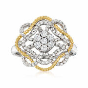 .55 Ct. T.w. Diamond Cluster Ring In Sterling Silver And 18kt Gold Over Sterling