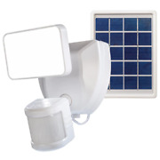 Voice Activated Wi-fi Connected White Motion Activated Solar Operated Integrated
