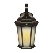2-light 14.6 In Bronze Motion Sensing Integrated Led Outdoor Wall Lantern Sconce