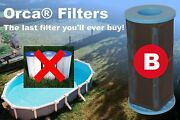 Orca Filters Reusable Pool Filter With Patented Pureblue Filtering – Type B