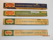 Nos Anco 12 Red Dot Turtleback Wiper Blades And Refills