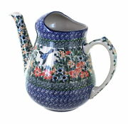 Blue Rose Polish Pottery Maria Watering Can