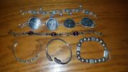 Sterling Silver Bracelet Lot Mexico. 925 Signed Stamped