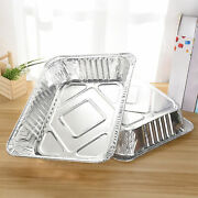 125pcs Aluminum Foil Pan Easy Storage Multifunctional Thicken Sturdy For Bbq