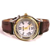 Rare Fossil Starmaster Classic Lu-2575 Light Up Womenand039s Wristwatch Leather Band