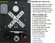 Railroad Crossing Kit - Hand Crafted Kit You Supply The Pole