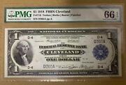 United Statesnational Currency 1 1918frbn Clevelandfr718 Pmg 66epq