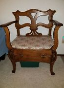 Antique Hall Bench Wide Seat Lifts For Storage