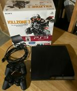 Sony Playstation 3 Ps3 Slim 500gb Console Bundle W/ Games And Controller