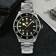 San Martin Sn008g Diver Automatic Black Homage Watch 40mm Bay Sapphire Sw200
