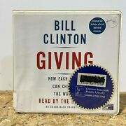 Giving By Bill Clinton Ex Library 5 Cd Unabridged Audiobook Free Us Shipping
