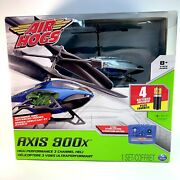 Air Hogs Axis 300x Rc Helicopter With Batteries - Silver And Blue