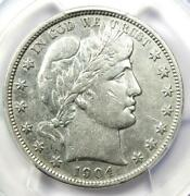 1904-s Barber Half Dollar 50c Coin - Certified Pcgs Xf Details Ef - Rare Date