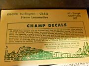 Champ Decals Ho Hn-26 Burlington Cbandq White Letters Way Of The Zephyrs