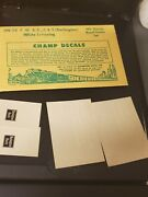 Champ Decals Ho Hn-28 Burlington F.w.andd, Cands White Letters