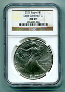 2021 T-2 American Silver Eagle Eagle Landing Ngc Ms69 Classic Brown Type Two Pq