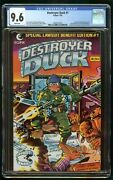 Destroyer Duck 1982 1 Cgc 9.6 1st Appearance Origin Groo Wanderer White Pages