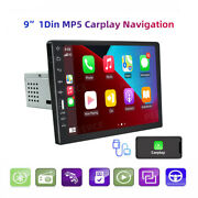 9and039and039 Apple Carplay Android Auto Single 1din Car Radio Stereo Bt Mp5 Player/camera
