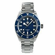 San Martin Sn008g Automatic Diving Blue Homage Watch Bay 40mm Sapphire 200m