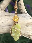Natural Healerite Necklace With Black Silky Cord