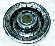 1956 Cadillac Deep Dish Stainless 15 Inch Hubcap Wheel Cover With Emblem Vintage