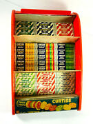 Rare Vtg Curtiss Fruit Drops Candy Counter Store Advertising Display Gum Mints