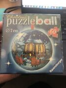 Sealed 2006 Christmas Tree Ornament Puzzle Ball 3d Ravensburger 60 Pieces