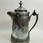 Antique Reed And Barton Silver Plate Water Pitcher 1879