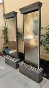 2 Waterfall Water Fountains Pumps Included
